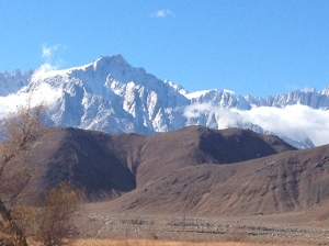 On our way to Mammoth after 2 big rains in So. Cal. Stunning! Ready to ski-skate!